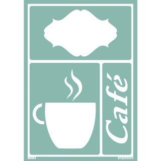 Schablone Softschablone Cafe Tasse  23 x 15 cm