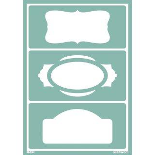 Schablone Softschablone Schilder Etiketten  23 x 15 cm
