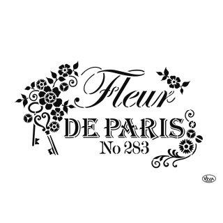 Schablone Fleur de Paris A4 Viva