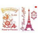 Schablone Paris Eiffelturm A4 Viva