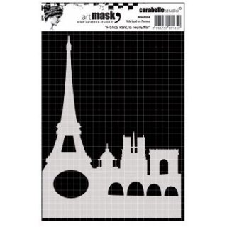 Schablone Art Mask France, Paris, la Tour Eiffel 10,5 x 15 cm