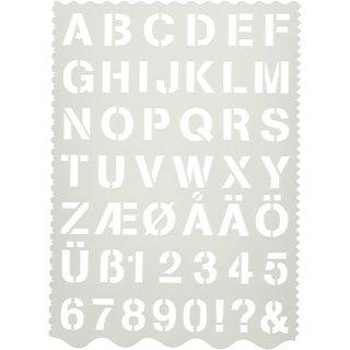 Schablone Alphabet 21 x 29 cm