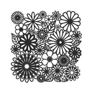 Schablone TCW Flower Frenzy 30 x 30 cm