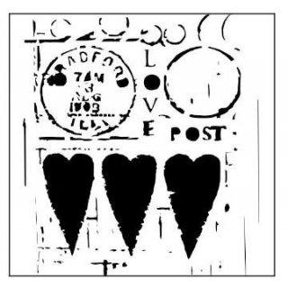 Schablone TCW Love Post 30 x 30 cm