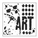 Schablone TCW Viva La Art 30 x 30 cm