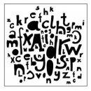 Schablone TCW Kasias Letters 30 x 30 cm