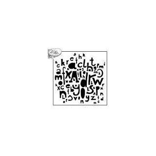 Schablone TCW Mini Kasia´s Letters 15 x 15 cm