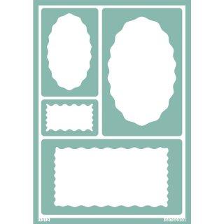 Softschablone A 5 Etikettenmuster