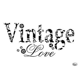 Schablone Vintage Love A4 Viva