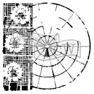 Schablone TCW Floral Radar 30 x 30 cm