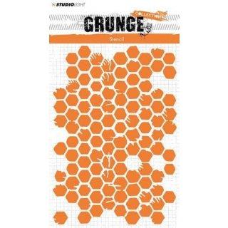 Schablone StudioLight A5 Grunge Collection Nr. 12