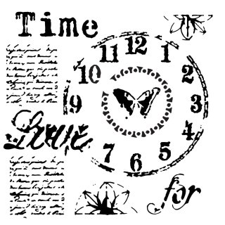 Schablone TCW Time for Love 30 x 30 cm