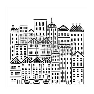 Schablone TCW City Buildings 30 x 30 cm
