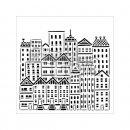 Schablone TCW City Buildings 15 x 15 cm