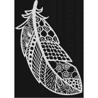 Schablone Pronty Mask Stencil A4 Feather Zentangle