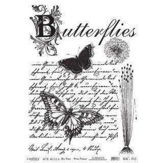 Reispapier Cadence Schmetterlinge DIN A3