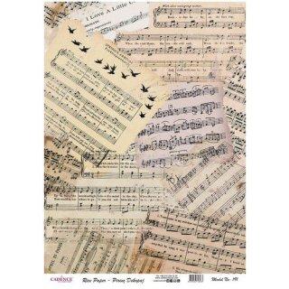 Reispapier Cadence Notenblätter DIN A3