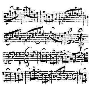 Schablone TCW686s Mini Sheet Music 15 x15 cm