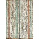 """Reispapier Stamperia Schriftenpapier DIN A3 """"Wood"""""""