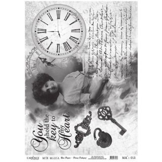 Reispapier Cadence Nostalgische Impressionen DIN A3