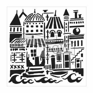 Schablone TCW Floating City  15 x15 cm