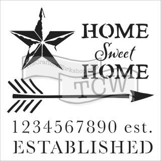 Schablone TCW Home Sweet 15 x 15 cm