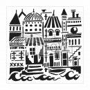 Schablone TCW Floating City 30 x 30 cm