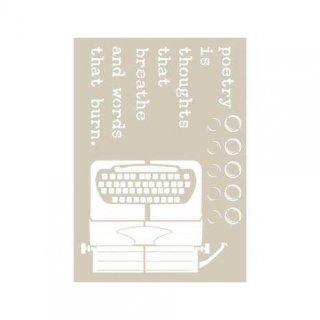 To Do Fleur Schablone Poetry 21x29,7 cm